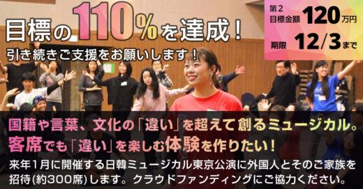 【クラウドファンディング】110%を突破しました!外国人ファミリー招待のお声掛けスタート!